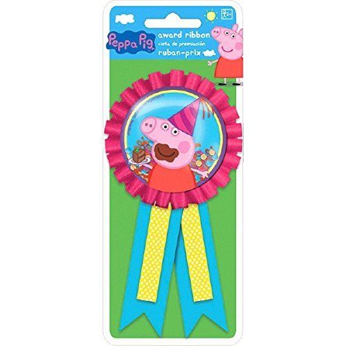 Amscan Peppa Pig Birthday Party Confetti Pouch Award favor Ribbon (Pack of 1), Multicolor, 5 3/4