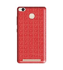 Xiaomi Redmi 3s Prime Back Cover Designer 3d printed Hard Case Cover for Redmi Mi 3S Prime by Gismo - Love Heart red theme
