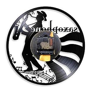 Zhiyi Saxophone Music Vinyl Record Clock - Musical Art Gift Home Decor Wall Clock from Zhiyi