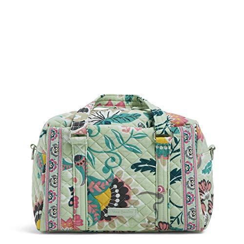 Vera Bradley Damen Iconic 100 Handbag, Signature Cotton Ikonische 100-Handtasche, Signaturbaumwolle, Mint Flowers, Einheitsgröße - Mint Handtasche Rucksack