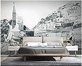 BHXINGMU Wandbild Individuelle Fototapeten Mediterrane Architektur Kunsttapeten Große Schlafzimmerwanddekoration 300Cm(H)×450Cm(W)