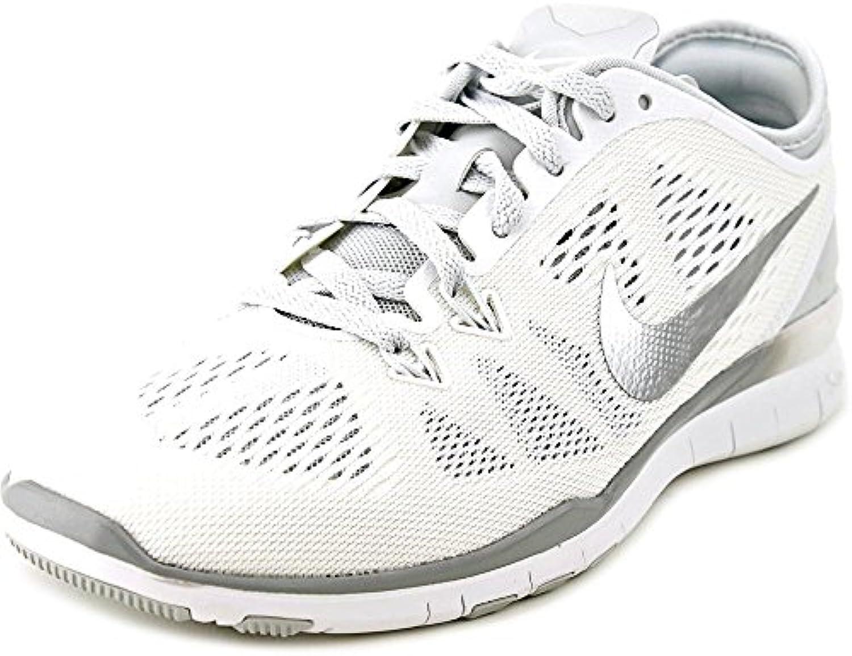 Nike NikeWMNS Free 5.0 TR FIT 5 - Zapatillas Deportivas Mujer White/Metallic Silve Talla:7,5