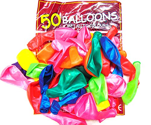 50 Assorted Colour 12 Inch Latex Balloons