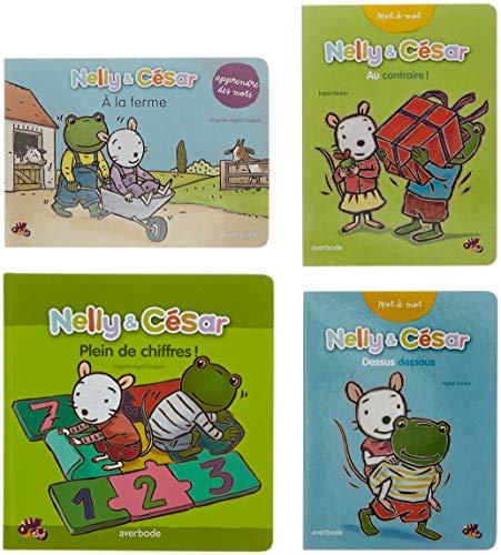 Nelly et César : 4 livres mes apprentissages