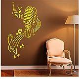 Musica Decalcomania da muro Adesivi in   vinile Note musicali Home Interior Art Design Murales Camera da letto Decorazione per dormitorio Impermeabile 57x96cm