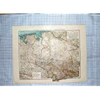 MAPPA ANTICA c1790-c1900 HANNOVER OLDEMBURGO BREMA