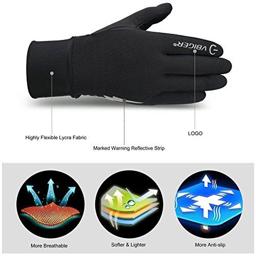 Vbiger TouchscreenHandschuhe Sport Handschuhe Trainingshandschuhe Rutschfest Handschuhe Vollfingerhandschuhe Trainingshandschuhe - 3