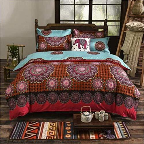 SHJIA Ethnischen Stil Tröster Bettwäsche-Sets Bettbezug Set Kissenbezug König Queen Size Bettwäsche Tagesdecke A 220x240cm -