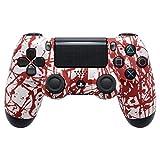 eXtremeRate Funda Delantera Carcasa Protectora de la Placa Frontal Cubierta reemplazable para el Mando del Playstation 4 PS4 Slim Pro con JDM-040 JDM-050 JDM-055 Patrón de Sangre