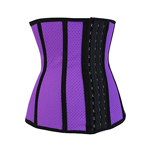 Grebrafan Sport Breathable Waist Trainer Cincher Underbust Corset Body Shaper Shapewear Violett