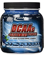 Ironmaxx BCAAs + Glutamine Powder, Blue Raspberry, 1er Pack (1 x 550 g)