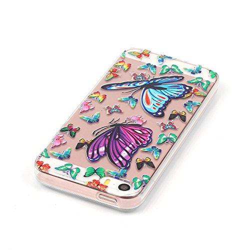 Pour Apple iPhone 6/6S(4.7 Zoll) Coque,Ecoway Housse étui Flexible protection en TPU Silicone Shell Housse Coque étui creux Slim Case Cover Cuir Etui Housse de Protection Coque Étui Apple iPhone 6/6S( Fit Butterfly