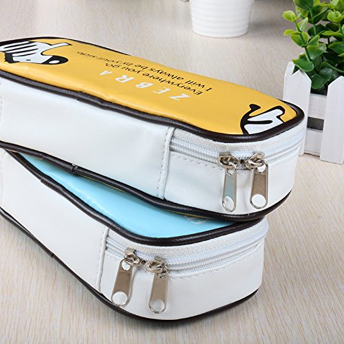 Fengh jirafa gran capacidad para bolígrafo papelería Pounch Cosmetic Bag