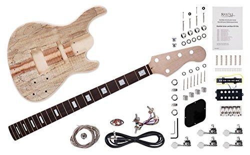 """Rocktile DIY JBH5 Bausatz E-Bass (""""Do-it-yourself"""" 5-Saiter E-Bass Bausatz JB-Style, Korpus: Linde mit Ahorndecke, Hals: Ahorn geschraubt, Griffbrett: selektiertes Hartholz)"""