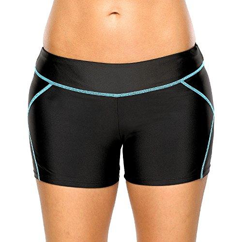 CharmLeaks Womens Sports Swim Shorts Boyleg Board Shorts Beach Bottoms Swimwear Swimsuits