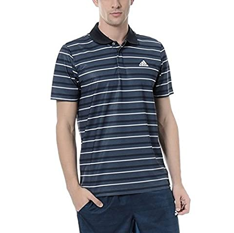 Adidas Maillot Polo de Tennis TS Strp Polo 2 Medium bleu marine
