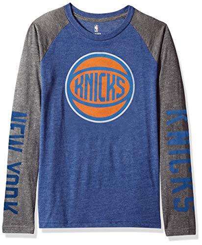 Outerstuff NBA by NBA Youth Jungen Raglan-T-Shirt Fadeaway, Jungen, Fadeaway Long Sleeve Raglan Tee, blau, Youth X-Large (18) (Tee Blaue Raglan)