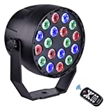 Viugreum® LED Par Stage Light 18 LED RGB DJ Party allume 7 DMX Mode par Télécommande et DMX Contrôle pour la maison KTV Disco Club Bar Party Show
