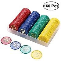 BESPORTBLE-160-Stcke-Kunststoff-Bingo-Chips-Anzahl-Marker-Fr-Bingo-Spielzhler-Spiele-4-Farben