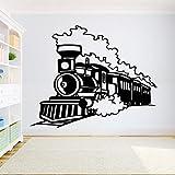 caowenhao Train Stickers muraux garçon Chambre Locomotive Autocollants en Vinyle Maternelle Chambre décoratif Art peintures murales décoration Murale Stickers muraux Noir 71X57 CM...