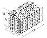 Geräteschuppen Bündel mit Gratis Zubehör - Palram 6X10 SKYLIGHT Shed Grau, 305.5 x 185.5 x 217 cm