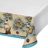 Unbekannt Creative Converting 725969Border Print Kunststoff-Tischdecke, 137,2x 259,1cm Pirate 's Karte