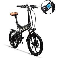 RIT BIT RT730 Vélo électrique LCD Vélo électrique Intelligent Vélo Pliant eBike 250W * 48V 8Ah LG Batterie Frein à Disque 20 Pouces Roue Ville Commute Bike Shimano Dérailleur 7 Vitesses