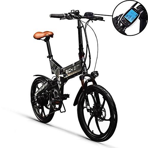 Unbekannt Rich BIT RT730 Elektrisches Fahrrad 250W 48V 8Ah LG Batterie LCD Intelligentes Elektrisches Fahrrad E-Bike 20Zoll Rad (Deluxe Edition-Grey) - Intelligentes Lcd