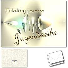 DigitalOase 2 Einladungskarten Zur Jugendweihe   Einladung Zur  Jugendweihekarten 2 Klappkarten Incl. 2 Weiße Kuverts