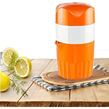 oumeiou Manual naranja exprimidor Mini exprimidor de frutas exprimidor de limón Manual de viaje fácil de usar y fácil de limpiar
