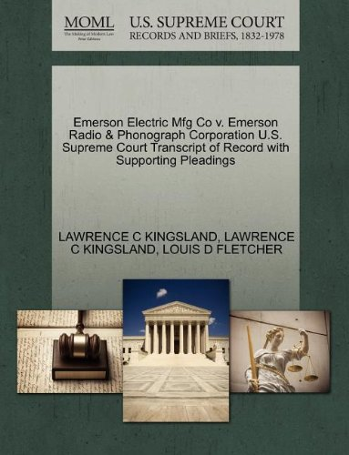 emerson-electric-mfg-co-v-emerson-radio-phonograph-corporation-us-supreme-court-transcript-of-record