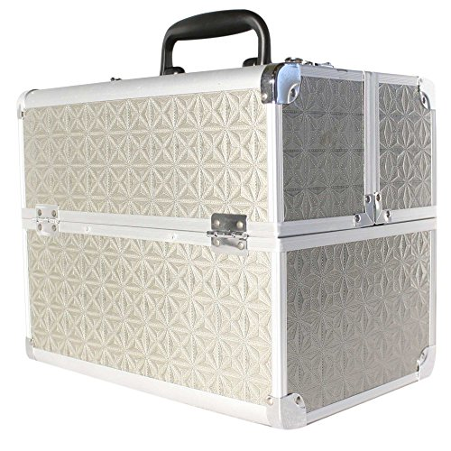 Beauty Case Silber (Kosmetikkoffer Beauty Case Schminkkoffer Multikoffer Alu Koffer Silber 32cm x 21 cm x 26 cm)