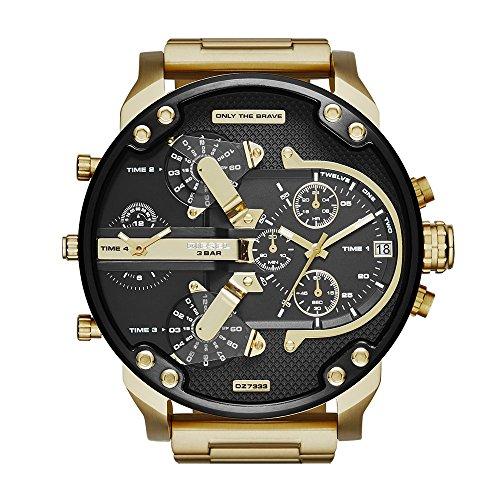 Uhr Diesel DZ7333Mister Daddy 2.0–Stahl Gold und Schwarz–4Takt