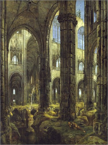 Posterlounge Bild Gotische Kirchenruine – Carl Blechen/akg-Images