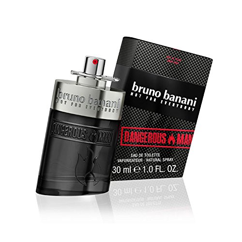 bruno banani Dangerous Man - Eau de Toilette Natural Spray - Unwiderstehlich-aufregendes Herren Parfüm - 1er Pack (1 x 30ml)