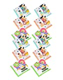 Devil Boy's|Girl's Vintage Multi Cartoon Printed Kids Cotton Handkerchiefs (pack of 12)