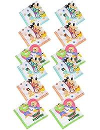 Krystle Boy's|Girl's Vintage Multi Cartoon Printed Kids Cotton Handkerchiefs(pack of 12)