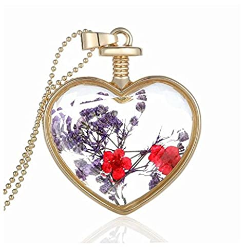 Women Necklaces, Rcool Fashion Women Girl Choker Necklace Dry Flower