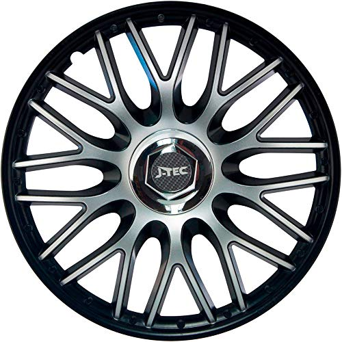 J-Tec J15594 Hub Caps Orden, Black, 15 inches