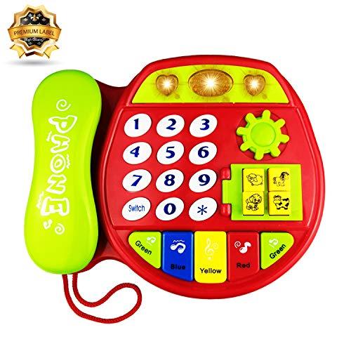 YITA - Teléfono Juguete niños 1 3 años, Rojo