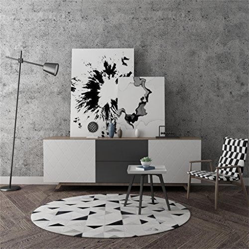 LIANTA Textil Runder Kuhfell-Teppich-Ultra weicher handgemachter Tee-Tabellen-Sofa-Garderoben-Schlafzimmer-Wolldecke Innenhaus (größe : 120cm)