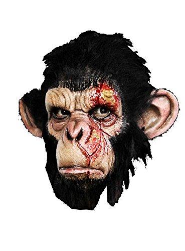 Seuchenaffe Maske Maske zum Zombie Affe Kostüm Halloween Affenmaske