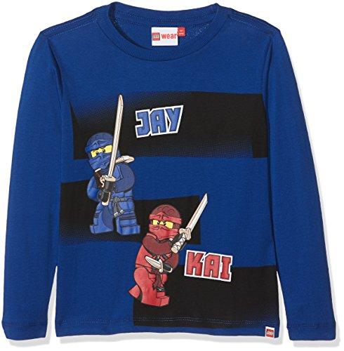 LEGO Wear Jungen Lego Boy Ninjago Teo 714-Langarmshirt, Blau (Dark Blue 570), 116 Preisvergleich