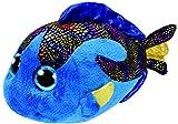 TY 37149 Beanie Boo's Aqua Fisch mit Glitzeraugen, 24 cm, blau