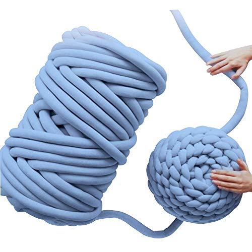 Filato di cotone fai-da-te,filato di lana multicolore soft bulky arm lavorato a maglia lana roving uncinetto fai da te chunky coperta in filato per gigante ricamo divano coperta