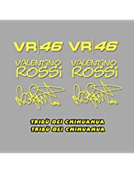 PEGATINAS TRIBU CHIHUAHUA ROSSI VR46 AM1 STICKERS AUFKLEBER DECALS AUTOCOLLANTS ADESIVI (AMARILLO)