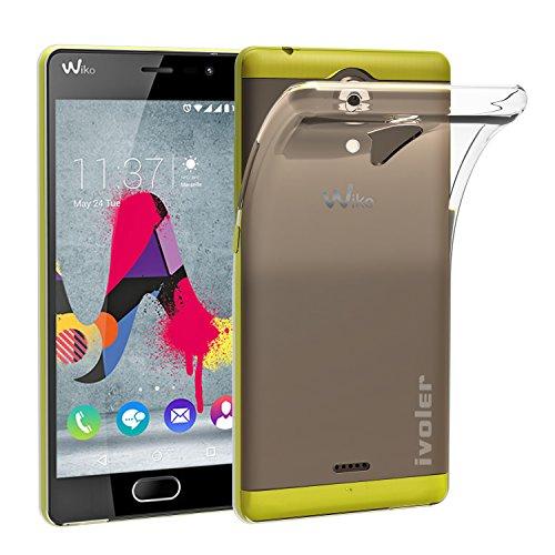 ivoler Hülle Case Kompatibel für Wiko U Feel Lite, Premium Transparent Klare Tasche Schutzhülle Weiche TPU Silikon Gel Handyhülle Schmaler Cover