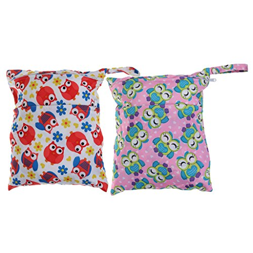 Sharplace 2Pcs Kleine Wickeltasche für unterwegs Reise Auto