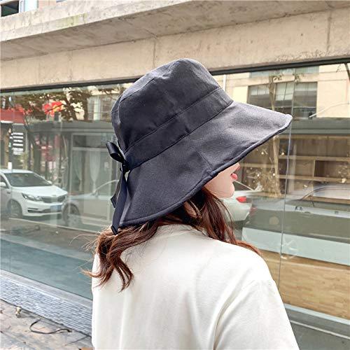 Frauen Kostüm Kolonial - mlpnko Sonnenschutzhut weiblich wild Sonnenhut Reiseabdeckung Gesicht Sonnencreme UV-Schutz Fischerhut schwarz verstellbar