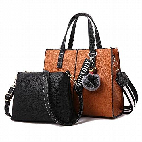 YTTY Fashion Bear Anhänger Schultertasche Einfache Handtasche High-Volume-Quilt-Tasche, Gelb (Tasche Quilt)